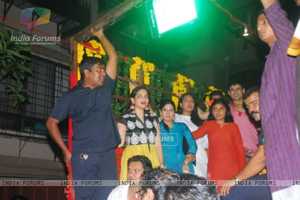 Salman Khan during Ganpati Visarjan
