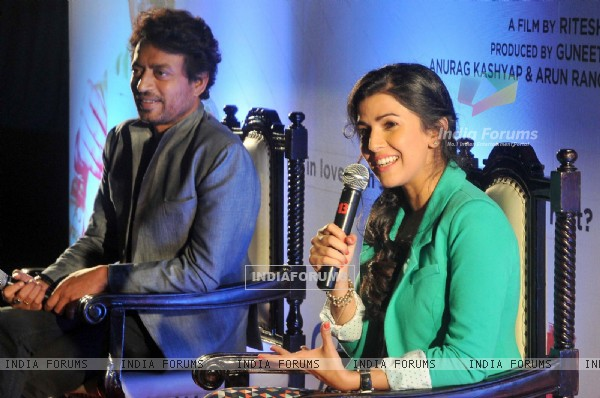 Irrfan khan and Nimrat Kaur address the  press conference