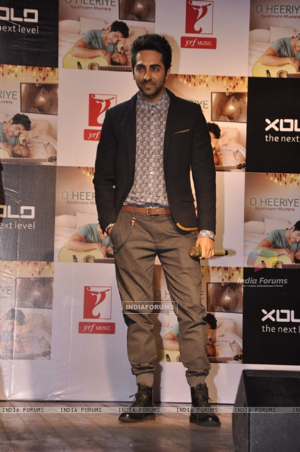 "Ayushmann Khurrana launches his new music album - ""O Heeriye"""