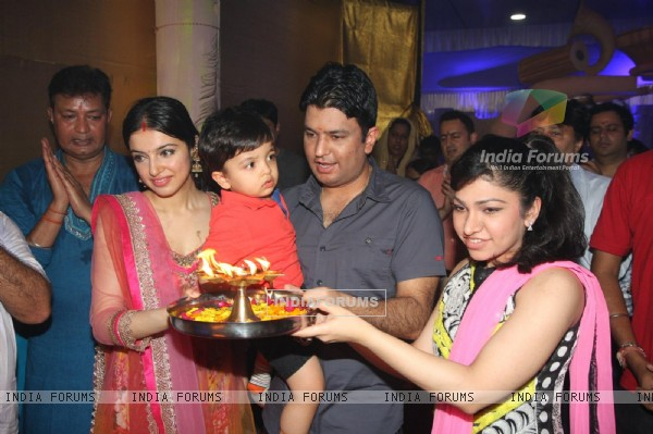 Bhushan Kumar at the Satynarayan Mahapooja at T-Series