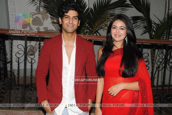 Arun Rana & Shafaq Naaz at the 'Mahabharat' Launch Party