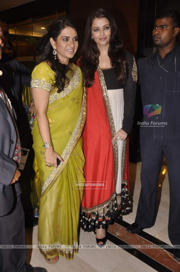 Shaina N.C and Aishwarya Rai Bachchan at the Giants International Annual Awards