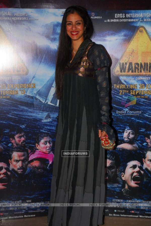 Premiere of the film Warning