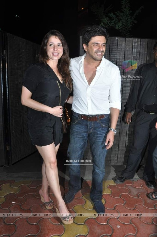 Neelam and Sameer Soni were at Chunky Pandey's Birthday Bash