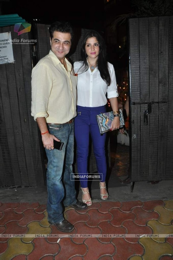 Sanjay Kapoor and his wife were at Chunky Pandey's Birthday Bash