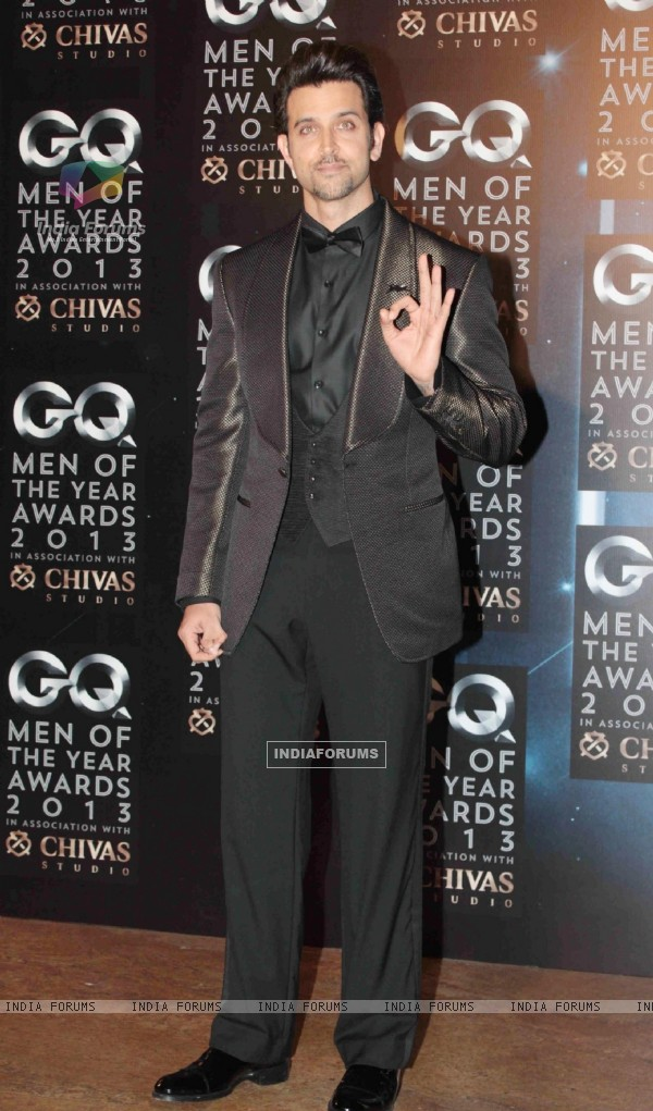 Hrithik Roshan was at the GQ Man of the Year Award 2013