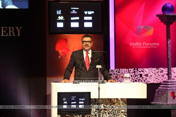 At GJEPC's 40th awards - Boman Irani addressing the audience