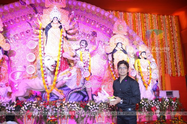 Shaan at the Durga Pooja celebrations