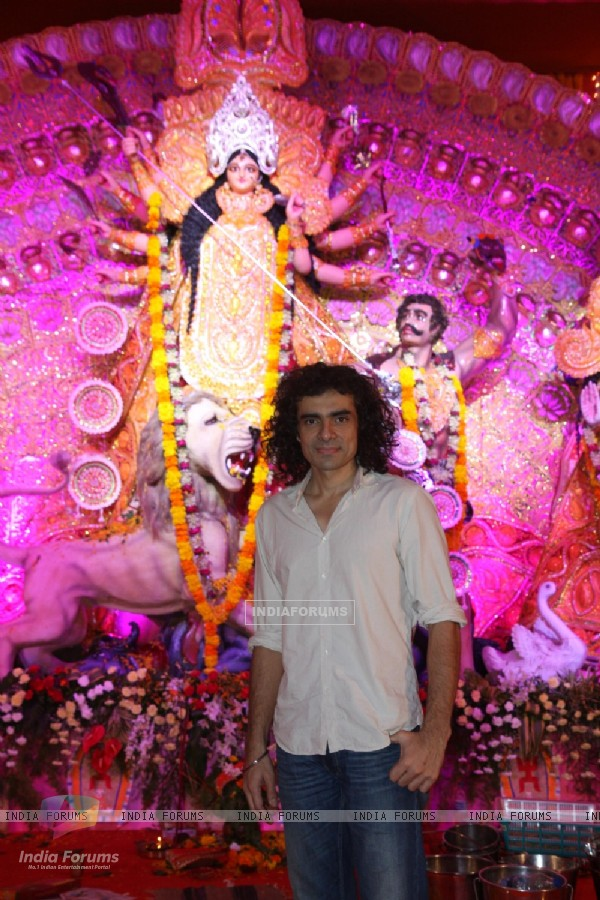 Imtiaz Ali at the Durga Pooja celebrations