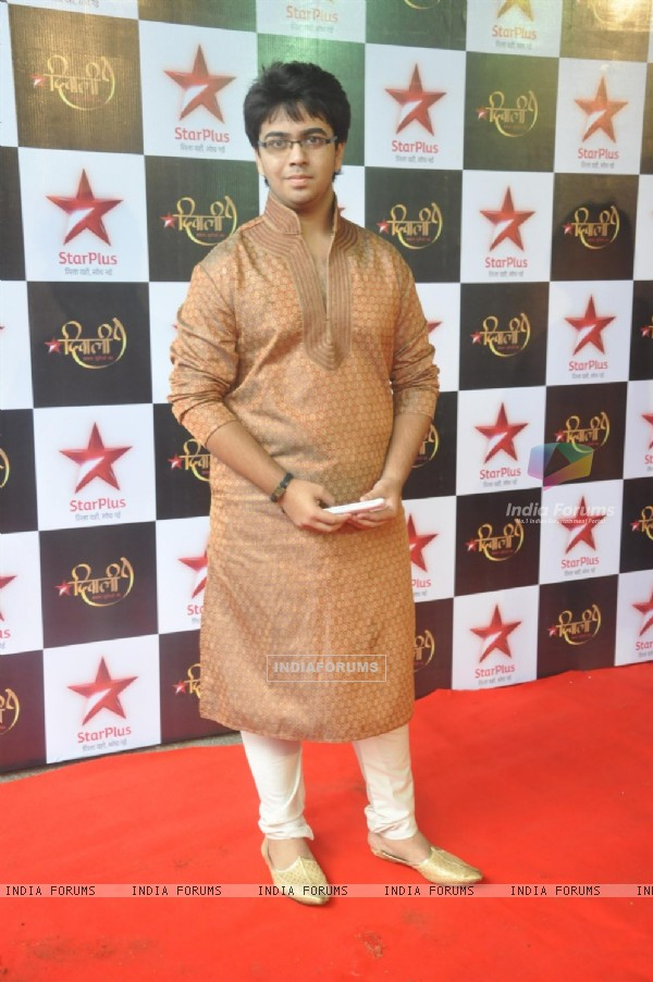 Aman Sharma at the Star Plus Diwali TV show