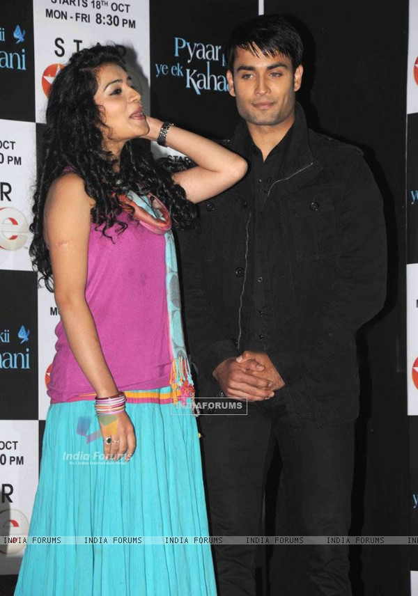 Sukirti Kandpal and Vivian Dsena during the launch of pyaar kii yeh ek kahani