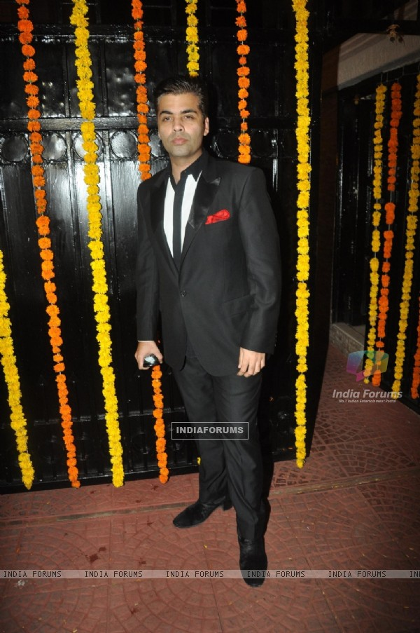 Karan Johar was at Ekta Kapoor's Grand Diwali Party