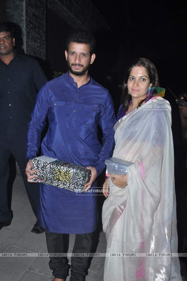 Sharman Joshi arrives at Aamir Khan's Diwali Bash