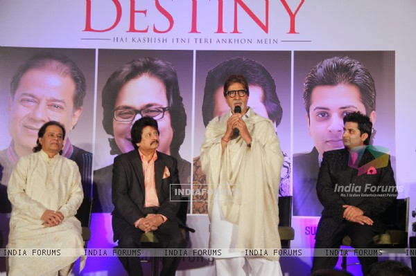 """Destiny"" A momentous album launched by Amitabh Bachchan"
