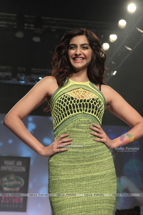 Sonam Kapoor at Signature International Fashion Week End