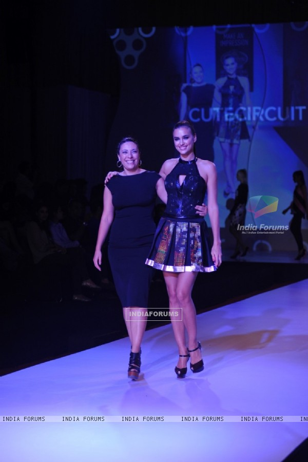 International Model Irina Shayk showstopper for Cute Circuit at Signature International Fashion Week 2013 in Mumbai