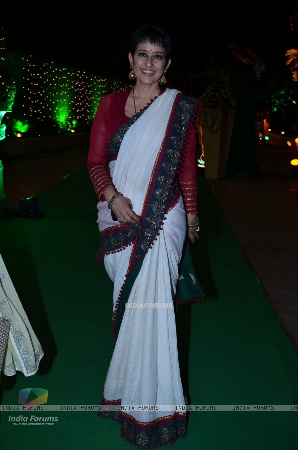 Manish Koirala at Vishesh Bhatt's Wedding Reception
