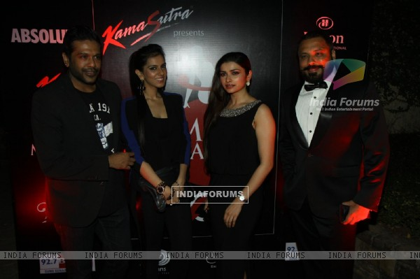 Prachi Desai, Nishika Lulla and Rocky S were seen at Kamasutra Miss Maxim 2014