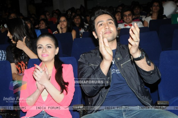 Ariana Ayam and Adhyayan Suman during the Promotions of the film - Heartless at the Jai Hind college