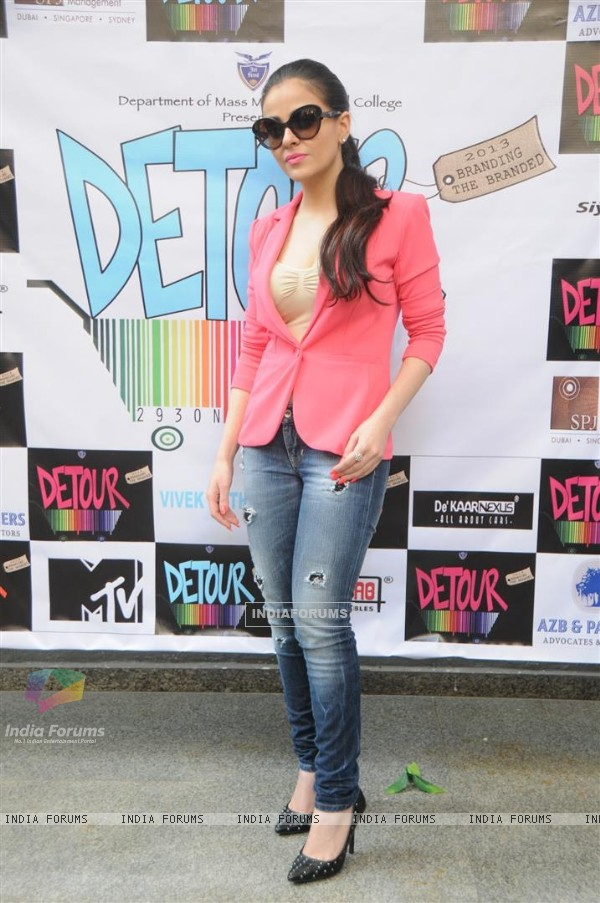 Ariana Ayam during the Promotions of the film - Heartless at the Jai Hind college