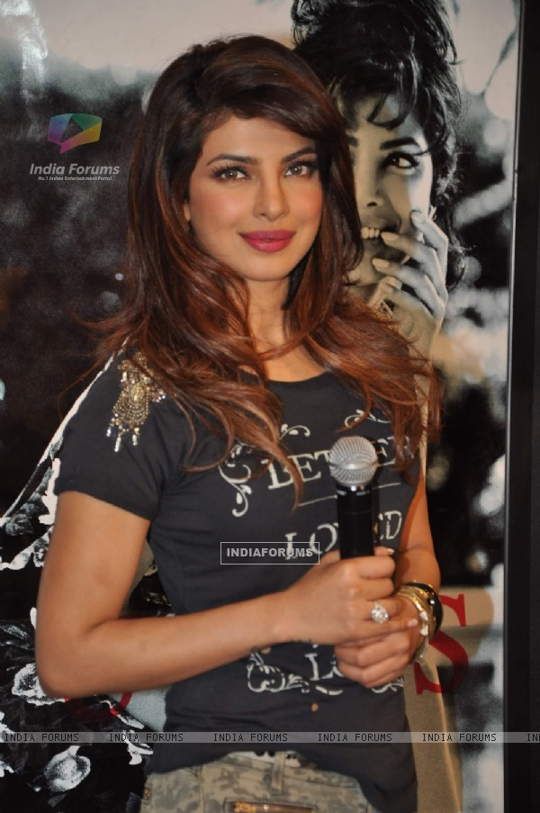 Priyanka Chopra at the Guess advertising holiday campaign event