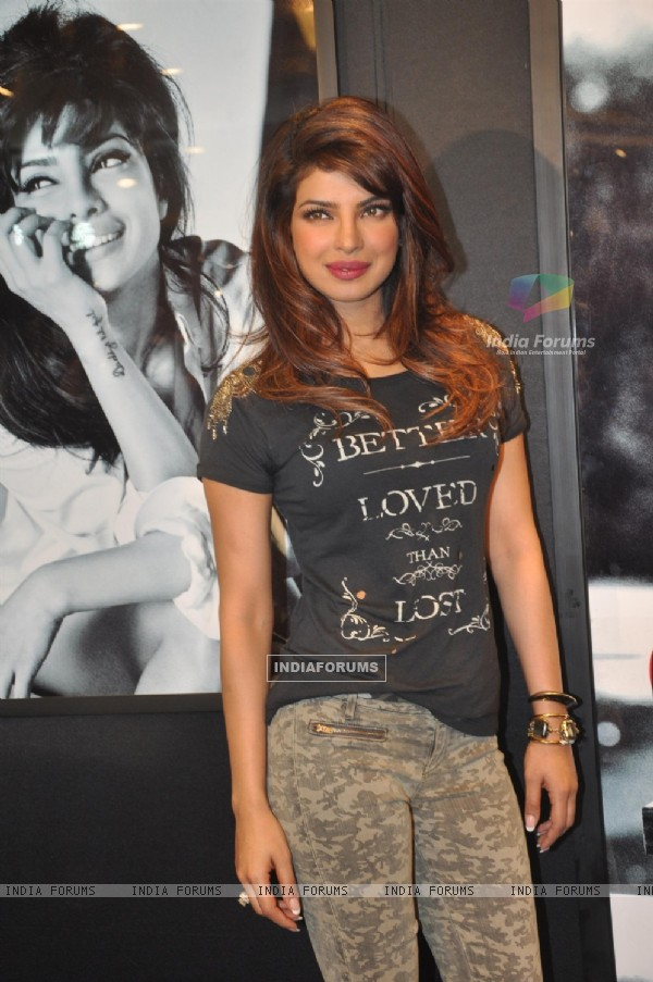 Priyanka Chopra at Guess advertising holiday campaign