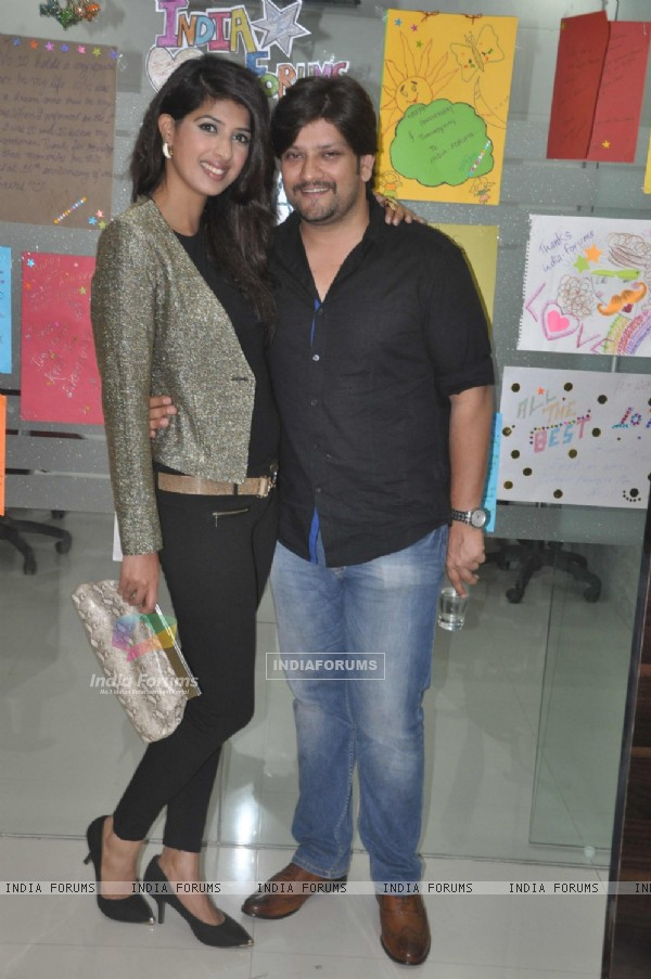 Aishwariya Sakhuja and Rohit Nag were seen at India-Forums.com 10th Anniversary Party