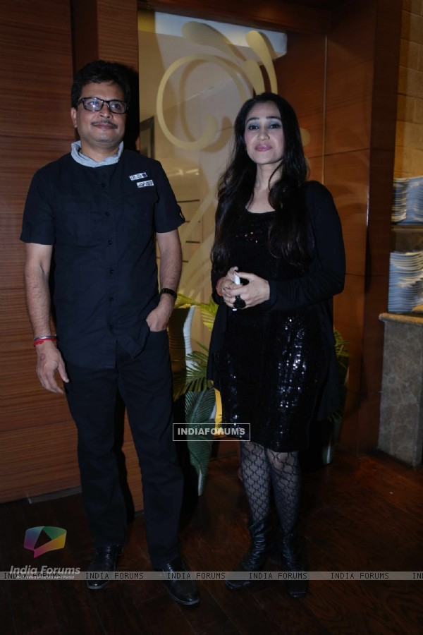 Disha Wakhani with Asit Modi at India-Forums.com's 10th Anniversary Party
