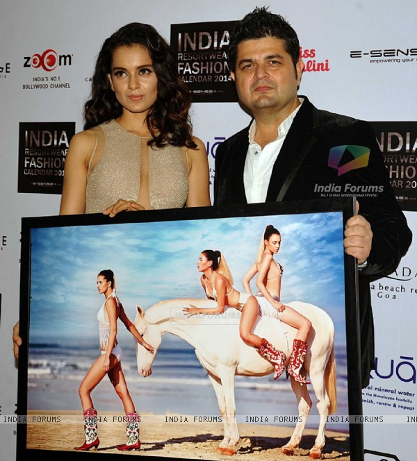 Unveiling of 'Indian Resort wear Fashion Calendar 2014'