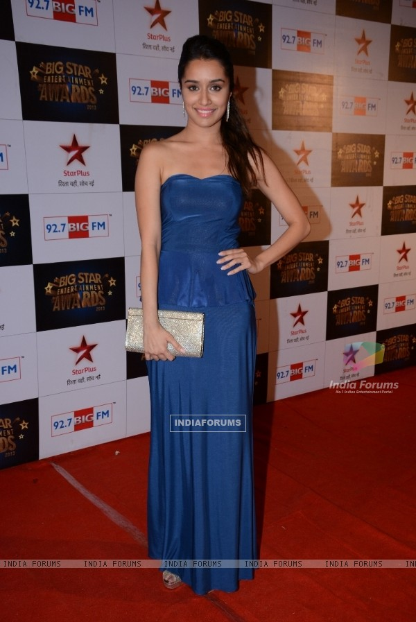Shraddha Kapoor was at the 4th BIG Star Entertainment Awards