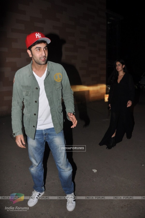 Ranbir Kapoor and Katrina Kaif were seen at the Screening of The Wolf of Wall Street