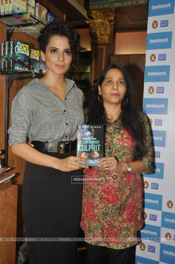 Kangana Ranaut launches the book 'A Convenient Culprit'