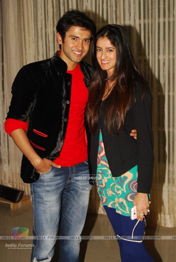 Mishkat Varma with sister Mihika Verma at the get together for Aur Pyar Ho Gaya