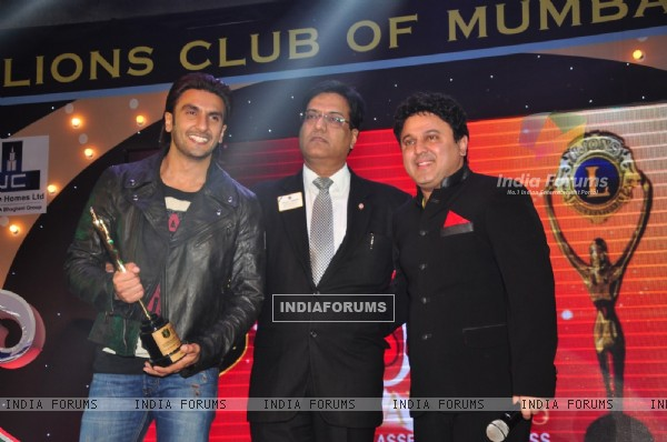 Ranveer Singh and Ali Asgar at the 20th Lions Gold Awards