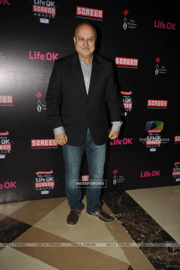 Anupam Kher was seen at the 'Life Ok Screen Awards' Nomination Party