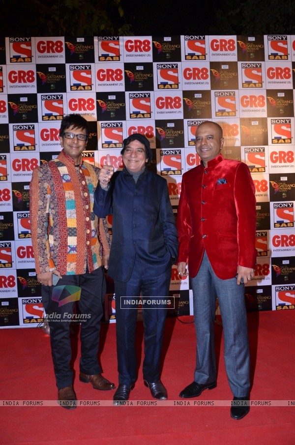 Javed Jaffrey, Naved Jaffery and Jagdeep at SAB Ke Satrangi Parivaar Awards
