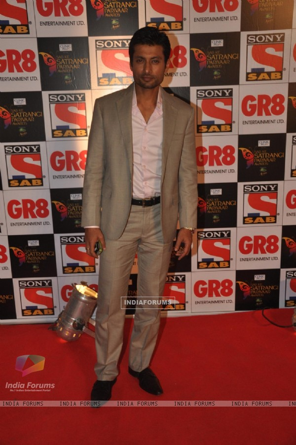 Indraneil Sengupta was seen at SAB Ke Satrangi Parivaar Awards