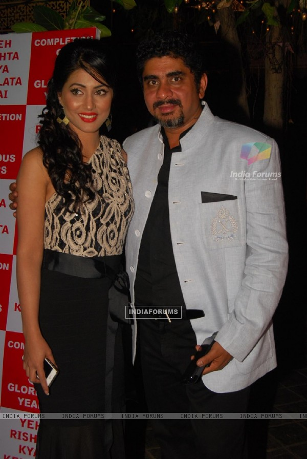 Hina Khan and Rajan Shahi at the 5 years Celebration of Yeh Ristha Kya Kehlata Hai