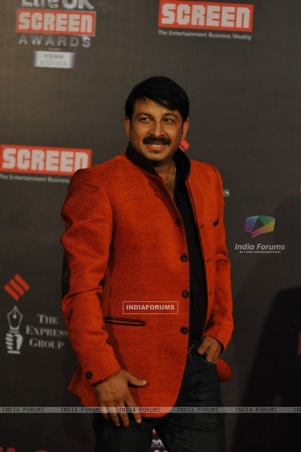 Manoj Tiwari was seen at the 20th Annual Life OK Screen Awards