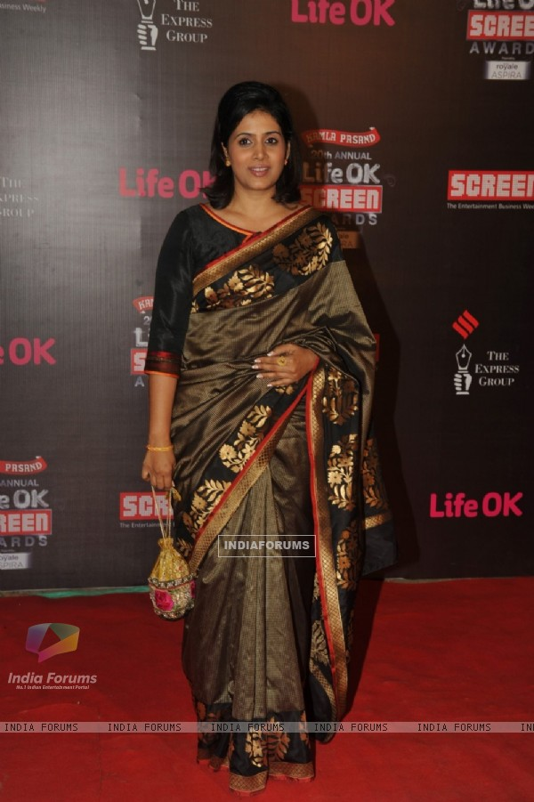 Sonali Kulkarni was at the 20th Annual Life OK Screen Awards