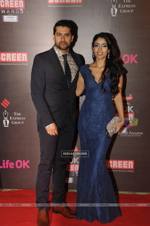 Aftab Shivdasani with his fiance were seen at the 20th Annual Life OK Screen Awards