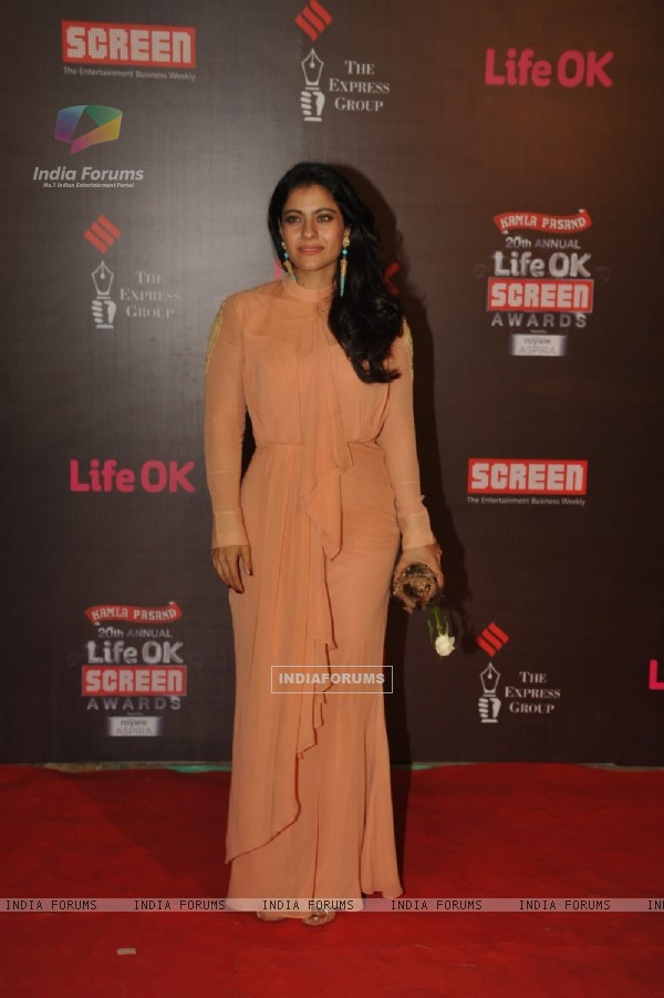 Kajol at the 20th Annual Life OK Screen Awards