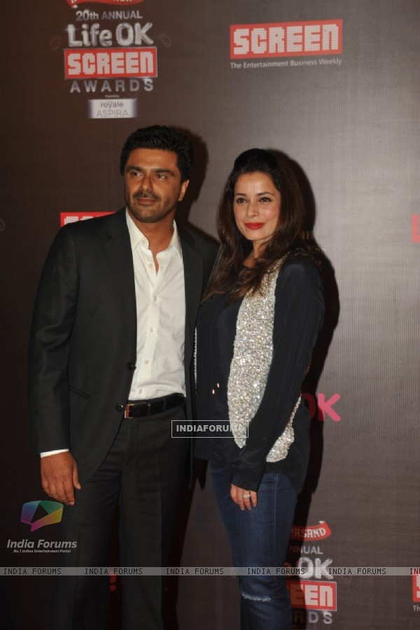 Sameer Soni and Neelam Kothari were at the 20th Annual Life OK Screen Awards