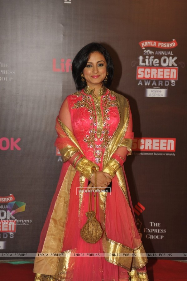 Divya Dutta was at the 20th Annual Life OK Screen Awards
