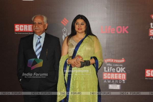 Ramesh Sippy and Kiran Juneja at the 20th Annual Life OK Screen Awards