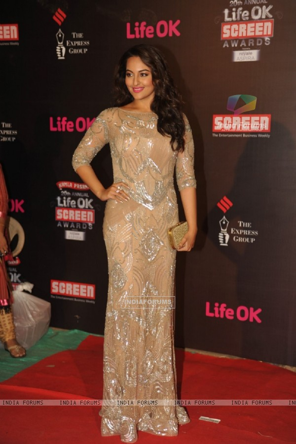 Sonakshi Sinha was at the 20th Annual Life OK Screen Awards