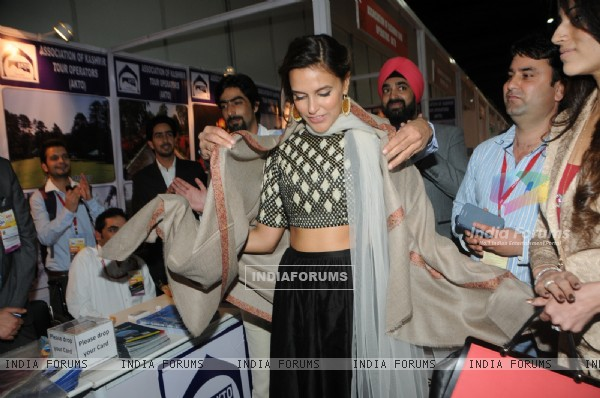 Neha Dhupia inaugrates India International Trade & Tourism Exhibition 2014