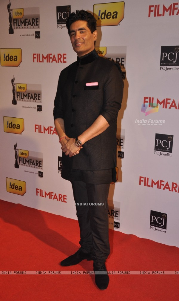 Manish Malhotra was at the 59th Idea Filmfare Awards 2013