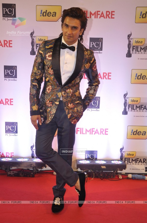 Ranveer Singh at the 59th Idea Filmfare Awards 2013