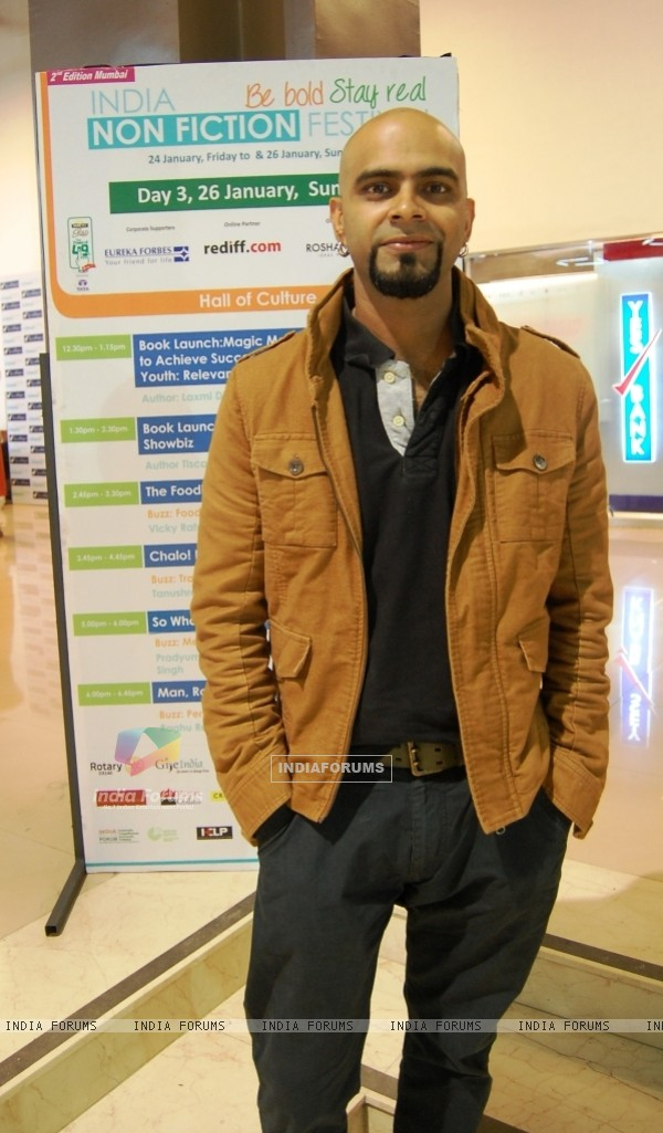 Raghu Ram was seen at the India Non-Fiction Festival Day 3